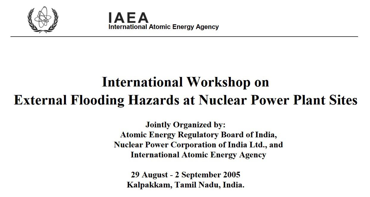 国際原子力機関(IAEA)が2005年8月にインドのマドラス原発で開いた津波ワークショプ。日本からは、地元インドに次ぐ10人が参加。これを契機に、国内でも津波対策の検討が本格化した。