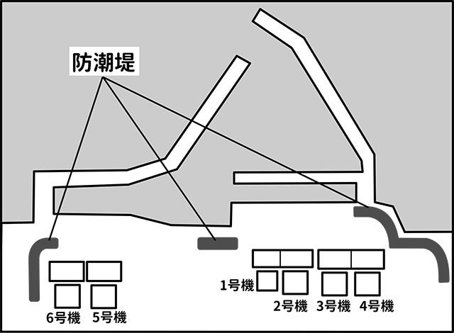 櫛の歯防潮堤(作図は事務局)