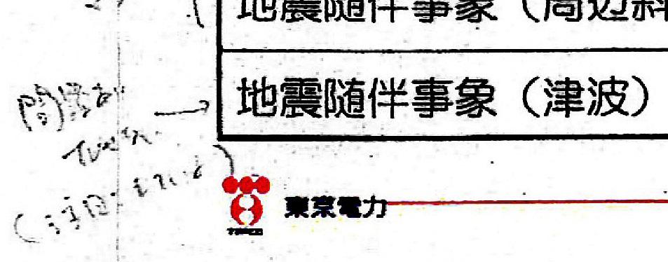 東電株主代表訴訟甲298の3 資料100より_左側に書記の手書きの書き込みがある