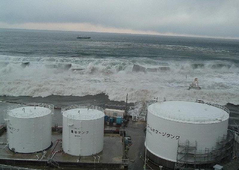 福島第一原発を襲った津波