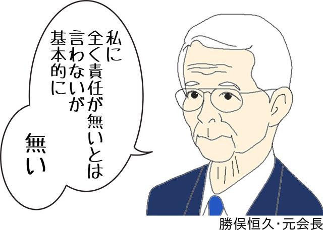 東京電力元会長 勝俣恒久